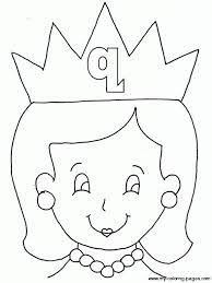 Coloring Pages For Kids Letter Q Preschool Princess