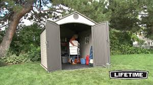 lifetime 8x10 shed youtube