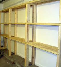 build wooden storage shelves basement quick woodworking build
