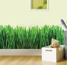 Wall Mural Decals Beach by Grass Room Decal Nursery Wallpaper Decal Green Grass Wall
