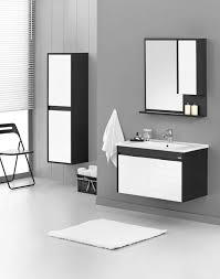 badmöbel set 80x45cm unterschrank waschbecken spiegelschrank krea ezine farbe schwarz