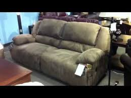 hogan double reclining sofa by ashley furniture youtube