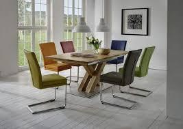 niehoff sitzmöbel schiebeplattentisch mit 6 schwingstühlen