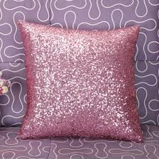 Decorative Couch Pillows Amazon by Amazon Com Stylish Comfy Solid Color Sequins Cushion Cover Throw