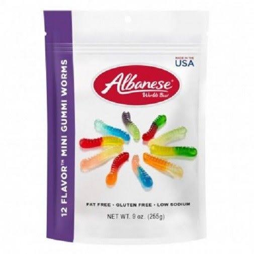 Albanese Gumi Worms - 12 Flavors, 212g