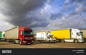100 Semi Truck Trailers Colorful Modern Big Image Photo Free Trial Bigstock