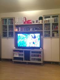wohnwand tv wand ikea buche weiß