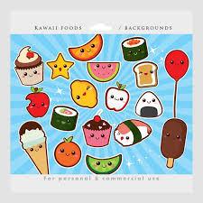 Cute Kawaii Food Clipart 1