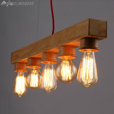 nordic vintage wood pendant lights home lighting modern hanging