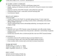 Example Server Resume Restaurant Job Description Duties Of A