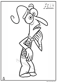 Inside Out Coloring Pages Free Printable Fear