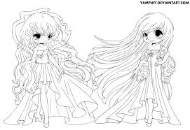 Deviantart Coloring Book Day And Night Lineart By Yampuff On