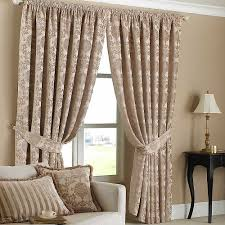Living Room Curtain Ideas 2014 by Accessories Simple And Neat Beige Pattern Cotton Tied Up Window