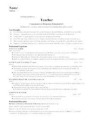 Sample Resume For Teachers Teacher Templates Free Download Elementary Resumes Math Samples Teaching