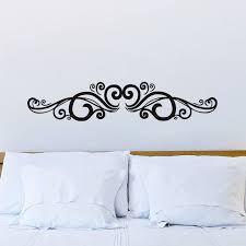symmetrische swirl blumen wandaufkleber vinyl kunst wandtattoo home decor für schlafzimmer wohnzimmer