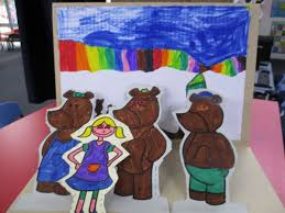 Once Upon A Time Goldilocks Went To The 3 Bears Home Then Their Shadows Ran Away They Got Them Mummy Bear Stitched Back Papa Her