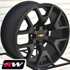 2014 GMC Sierra OE Factory Replica Wheels Matte Black 20