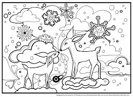 Disney Winter Coloring Pages Dltk Color Throughout