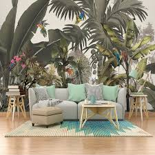 panoramatische tapete dschungel exotische bananenstaude
