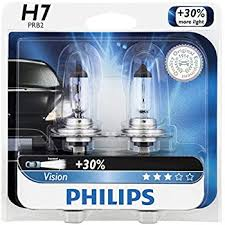 philips h7 vision upgrade headlight bulb 2 pack