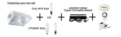 1000 Watt Hps Bulb And Ballast by Amazon Com Ipower 1000 Watt Hps Mh Digital Dimmable Grow Light