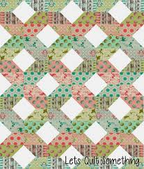 Lets Quilt Something Fence Free Layer Cake Pattern with