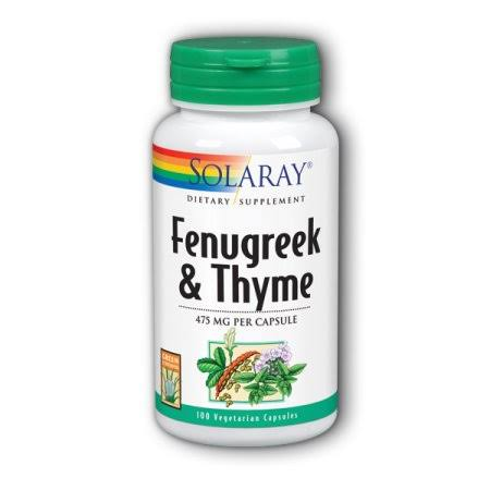 Solaray Fenugreek and Thyme Capsules - 475mg, x100