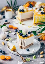 kokos cheesecake mit raffaelos vegan