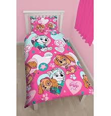 "Paw Patrol New Girls Single Bedding Set Reversible ""stars"""