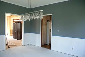 Dreaded Dining Room With Chair Rail Paint Colors Image Ideas