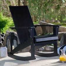 Belham Living Portside Modern Adirondack Rocking Chair ... Isla Wingback Rocking Chair Taupe Black Legs Safavieh Outdoor Living Vernon White Rar Eames Colby Avalanche Patio Faux Wood Rapson Amazoncom Adults For Heavy People Clips Monet Rattan Rocking Chair Base Pp Ginger