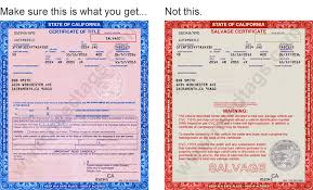 Brake And Lamp Inspection Sacramento by Registering A Car With A Salvage Title Not A Salvage Certificate
