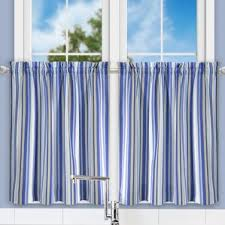 Blue Vertical Striped Curtains by Striped Valances U0026 Kitchen Curtains You U0027ll Love Wayfair