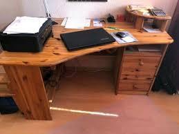 schreibtisch holz kiefer vollholz wohnzimmer pc büro in