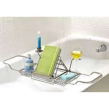Bamboo Bathtub Caddy Bed Bath Beyond by Amazon Com Over Tub Caddy By Spa Creations Satin Nickel Finish