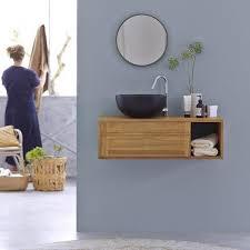 bad hängemöbel teak möbel unter waschbecken basic