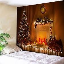 Christmas Tree Pattern Bedroom Decor Tapestry