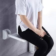 scddz klappbare duschsitzbank wandhalterung aus holz solide