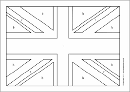 Union Coloring Page Uk Flag Funycoloring