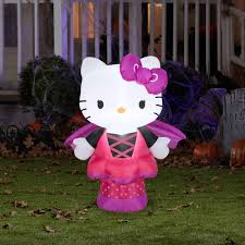 Walmart Halloween Blow Up Decorations by 3 U0027 Airblown Hello Kitty As Bat Sm Sanrio Walmart Com