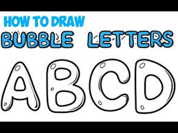 How to Draw Bubble Letters for Beginners A Z Easy for Kids Step by