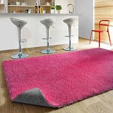 komfort shaggy teppich badematte happy wash rot türkis silber weiß grün lila pink schwarz badezimmer teppich waschbar trocknergeeignet