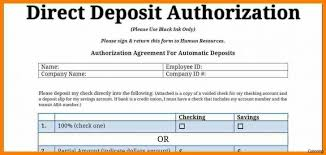 Direct Deposit Form Template Authorization Printable Pdf Voided