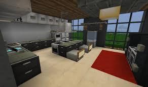 modern kitchen minecraft interior design