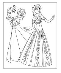 Free Frozen Coloring Elsa And Anna