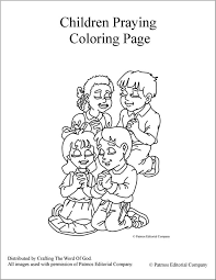 Children Praying Coloring Page Crafting The Word Of God