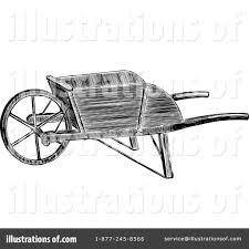 Royalty Free RF Wheelbarrow Clipart Illustration by Prawny Vintage