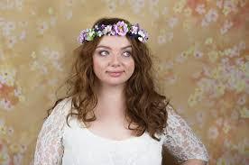 Wedding Flower Crown Bridal Headpiece Accessories Pink Ivory Rustic Head Wreath Headband