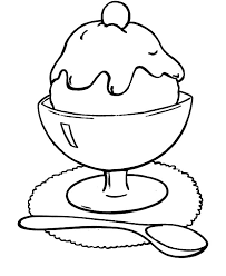 Chocolate Flavour Ice Cream Coloring Pages