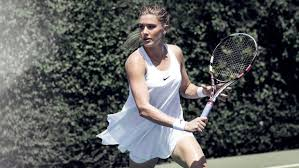 Nike Sponsored Canadian Athlete Genie Bouchard Poses In A Campaign For The Brands New Wimbledon